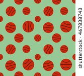 sports seamless pattern with... | Shutterstock .eps vector #467838743