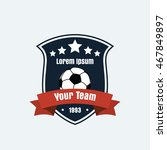 vector logo icon of football... | Shutterstock .eps vector #467849897