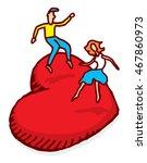 cartoon illustration of couple... | Shutterstock .eps vector #467860973