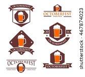 oktoberfest label and logo... | Shutterstock .eps vector #467874023