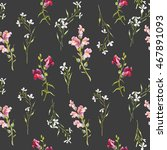 watercolor floral pattern... | Shutterstock . vector #467891093