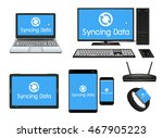smart device and computer... | Shutterstock .eps vector #467905223