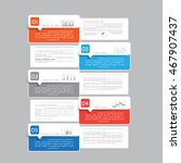 template for infographic with 5 ... | Shutterstock .eps vector #467907437
