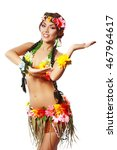 beautiful exotic girl with... | Shutterstock . vector #467964617