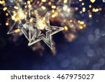 christmas background with... | Shutterstock . vector #467975027