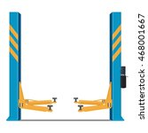 hydraulic car lifting | Shutterstock .eps vector #468001667