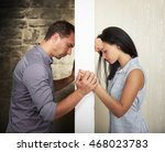 breaking down the barrier... | Shutterstock . vector #468023783