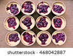 Batter Of Cupcake With Blueberry