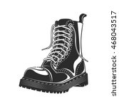 black high boot vector... | Shutterstock .eps vector #468043517