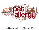 pet allergy word cloud concept | Shutterstock . vector #468050447