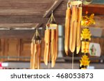Bamboo Wind Chimes Hanging In...