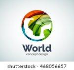 earth logo template  abstract... | Shutterstock .eps vector #468056657