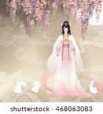 chang'e  the chinese goddess of ... | Shutterstock .eps vector #468063083