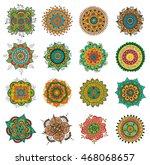 vector set of abstract tattoo... | Shutterstock .eps vector #468068657