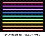 neon tube light pack isolated... | Shutterstock .eps vector #468077957