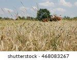 combine harvester on the field... | Shutterstock . vector #468083267
