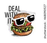 "burger in a glasses ""deal with... 