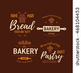 set of bakery badges with bread ... | Shutterstock .eps vector #468104453