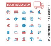 logistics system icons | Shutterstock .eps vector #468105947