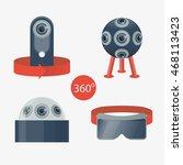 set of cameras 360 degrees... | Shutterstock .eps vector #468113423