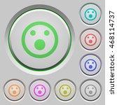 set of color shocked emoticon... | Shutterstock .eps vector #468114737