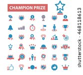champion prize icons | Shutterstock .eps vector #468118613