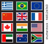 stamps representing world flags ... | Shutterstock .eps vector #468126563