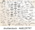 mega set of vector flourishes... | Shutterstock .eps vector #468129797