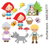 red riding hood vector... | Shutterstock .eps vector #468158777
