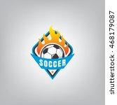 soccer logo emblem design... | Shutterstock .eps vector #468179087