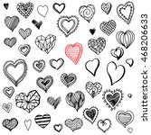 hand drawn doodles of... | Shutterstock . vector #468206633