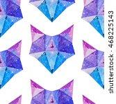 cosmic polygonal fox. hand... | Shutterstock . vector #468225143