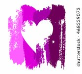 heart in grunge style on a... | Shutterstock . vector #468229073