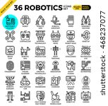 robotic technology outline... | Shutterstock .eps vector #468237077