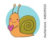 cute cartoon snail with heart....