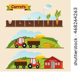 carrots  the growth cycle of...   Shutterstock .eps vector #468264263