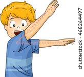 illustration of a little boy... | Shutterstock .eps vector #468264497