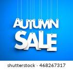 autumn sale   text hanging on... | Shutterstock . vector #468267317