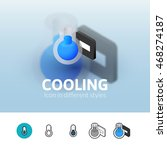 cooling color icon  vector...