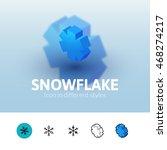snowflake color icon  vector...