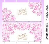 vintage delicate invitation... | Shutterstock . vector #468278033