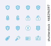 security icons   Shutterstock .eps vector #468296597