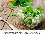 Salad With Cucumber  Purslane...