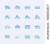transport icons | Shutterstock .eps vector #468301817