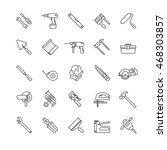 tools thin line icons set | Shutterstock .eps vector #468303857