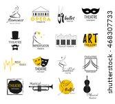 theater  ballet dance  opera... | Shutterstock .eps vector #468307733