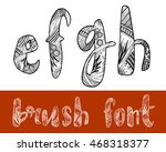 zentangle stylized vector... | Shutterstock .eps vector #468318377