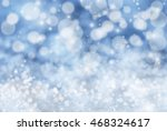 blue christmas background with... | Shutterstock . vector #468324617