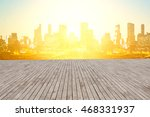 cityscape   perspective wood | Shutterstock . vector #468331937
