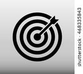 bulls eye vector icon...